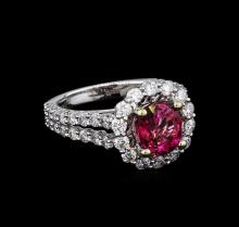 2.01 ctw Tourmaline and Diamond Ring - 18KT White Gold