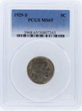 1929-S PCGS MS64 Buffalo Nickel