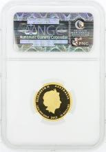 2012P NGC PF70 Ultra Cameo Australia G$25 Year of the Dragon 1/4 oz Gold