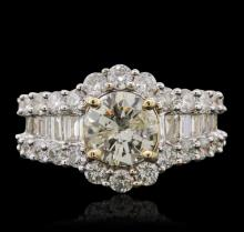 14KT Yellow Gold 3.43 ctw Diamond Ring