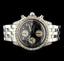 Breitling Stainless Steel 3.81 ctw Diamond Men's Watch