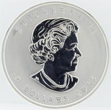 2014 Canada 1.5 oz Silver $8 Artic Fox Gem BU Coin