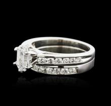14KT White Gold 1.52 ctw Diamond Wedding Ring Set