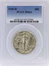 1946 PCGS MS64 Liberty Walking Half Dollar Coin Set