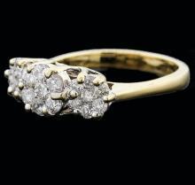 14KT Yellow Gold 1.25 ctw Diamond Ring