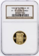 1992-W NGC PF70 Ultra Cameo $5 Olympics Gold Coin