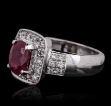 14KT White Gold 1.62 ctw Ruby and Diamond Ring