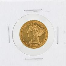 1892 $5 AU Liberty Head Half Eagle Gold Coin