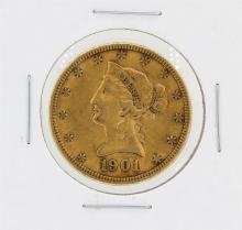1901-S $10 XF Liberty Head Eagle Gold Coin