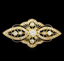 1.40 ctw Diamond Pin - 18KT Yellow Gold