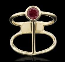 14KT Yellow Gold 0.55ctw Ruby Ring