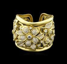 Kieselstein-Cord 16.35ctw Diamond Cuff Bracelet - 18KT Yellow Gold