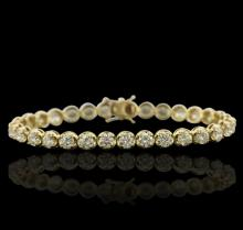 14KT Yellow Gold 10.04ctw Diamond Tennis Bracelet
