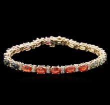 14KT Yellow Gold 12.50ctw Sapphire and Diamond Bracelet