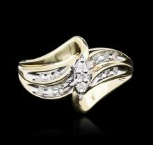 10KT Yellow Gold 0.10ctw Diamond Ring