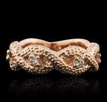 14KT Rose Gold 0.25ctw Diamond Ring