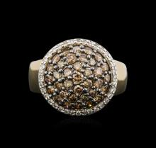 14KT Yellow Gold 1.79ctw Brown Diamond Ring