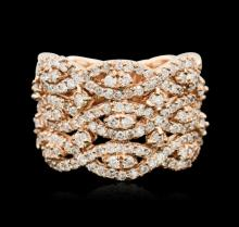14KT Rose Gold 1.40ctw Diamond Ring