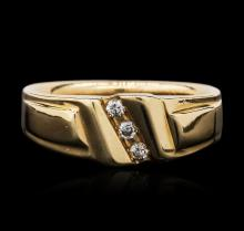 14KT Yellow Gold 0.10ctw Diamond Ring