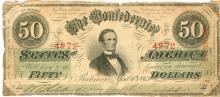 The Confederate States of America Richmond, Virginia $50 Note