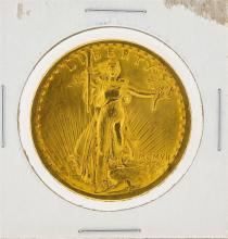 1907 $20 AU St. Gaudens Double Eagle Gold Coin
