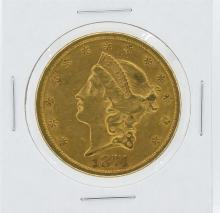 1874-S $20 XF Liberty Head Double Eagle Gold Coin