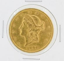 1896 $20 AU Liberty Head Double Eagle Gold Coin