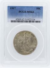 1917 PCGS MS62 Liberty Walking Half Dollar