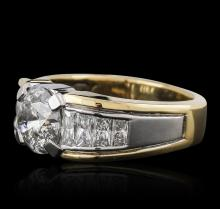 Platinum and 18KT Yellow Gold 4.91 ctw Diamond Ring