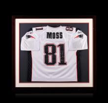 Randy Moss Framed Autographed Jersey