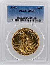 1927 PCGS MS64 $20 St. Gaudens Double Eagle Gold Coin