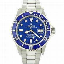 Rolex Stainless Steel Date Submariner Men's Watch