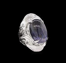 Sterling Silver 22.04 ctw Tanzanite Ring