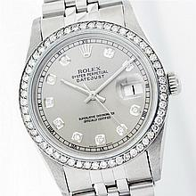Rolex Stainless Steel 1.00 ctw Diamond DateJust Watch