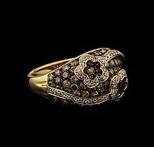 14KT Yellow Gold 2.75 ctw Fancy Brown Diamond Ring