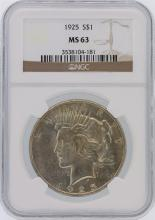 1925 NGC MS63 Peace Silver Dollar