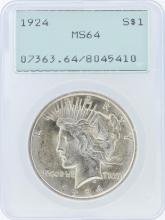 1924 PCGS MS64 Peace Silver Dollar