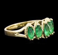 14KT Yellow Gold 0.86 ctw Emerald Ring