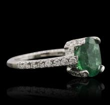 14KT White Gold 2.32 ctw Emerald and Diamond Ring