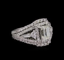 14KT White Gold EGL USA Certified 2.92 ctw Diamond Ring