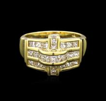 1.00 ctw Diamond Ring - 18KT Yellow Gold