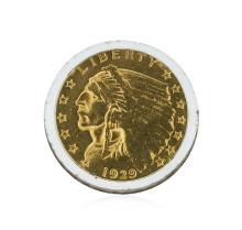 1929 $2.50 Indian Head Quarter Eagle Gold Coin