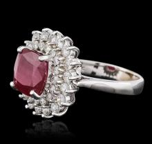 18KT White Gold 4.68 ctw Ruby and Diamond Ring
