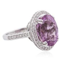 14KT White Gold 8.52 ctw Pink Tourmaline and Diamond Ring