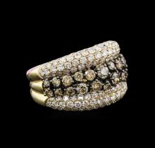 3.90 ctw Fancy Brown Diamond Ring - 14KT Two-Tone Gold