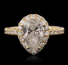 14KT Yellow Gold 2.60 ctw Diamond Ring