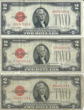 1928 $2 Currency Lot of 6