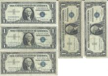 1957 $1 Bill Lot of 5