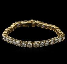 14KT Yellow Gold 16.07 ctw Diamond Tennis Bracelet