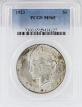 1923  MS65 Peace Silver Dollar